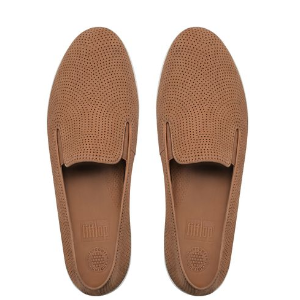 FitFlop F-Pop Perf Skate Nubuck Shoes Tan | FitFlop Official Online Store
