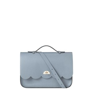 French Grey Grain Cloud Bag With Top Handle | The Cambridge Satchel Company