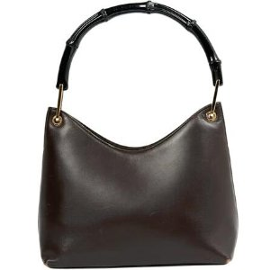 brown Plain Leather GUCCI Handbag - Vestiaire Collective
