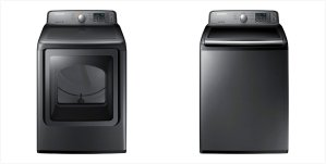 $499 Each Samsung Platinum Finish 4.5 cu. ft. HE  Washer Or 7.4 cu. ft. Dryer