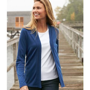 Women's Pima Cotton Pin-Tucked Open Cardigan | Now on sale at L.L.Bean