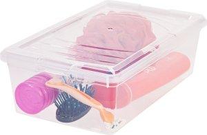 RIS 6 Quart Modular Storage Box, 10 Pack, Clear