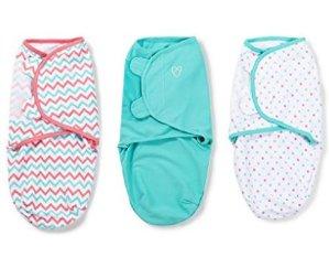 SwaddleMe 全棉婴儿安全包巾3件装 - 小中号