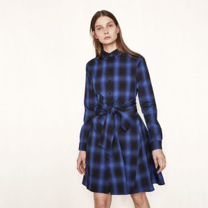 RULYL Checked shirt dress - Dresses - Maje.com