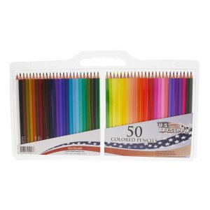 $6.96 Us Art Supply 50 Piece Artist Grade Colored Pencil Set Bundle with Reusable Plastic Carry Case, 7-Inch