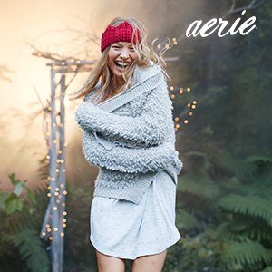 Free Cable Blanket with Any $75 Purchase @ Aerie by American Eagle
