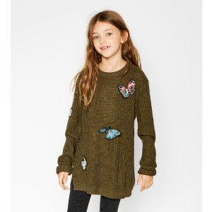 Butterfly patches sweater - SWEATERS & CARDIGANS-GIRL | 4-14 years-KIDS-SALE | ZARA United States