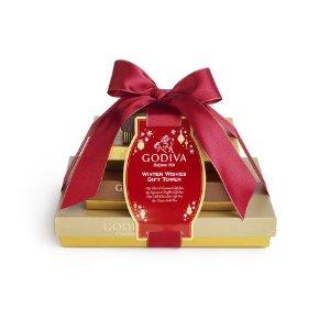 4-Tier Winter Wishes Gift Tower   GODIVA