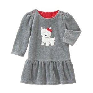 Baby Heather Grey Westie Dress by Gymboree