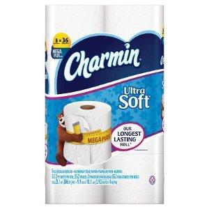 $19.98+5GC Target - Charmin Ultra Soft/Strong Toilet Paper - 32 Mega Plus Rolls + $5 Target GC