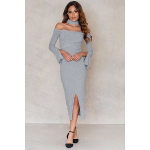 High Neck Wrap Around Belt Dress - Buy online | NA-KD