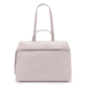 MAUVE LEATHER SATCHEL | KARA BAG