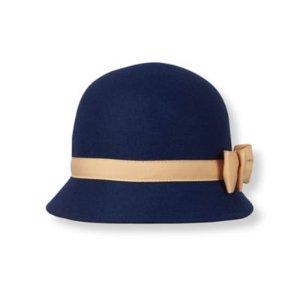 Baby Girl Navy Wool Felt Hat at JanieandJack