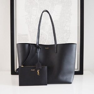 Up to $300 Gift Card Saint Laurent Large Shopping Tote Bag @ Neiman Marcus