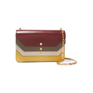 Mulberry Paneled leather clutch