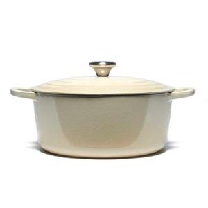 Le Creuset Signature Cast Iron Round Casserole Dish - 28cm - Almond Homeware   TheHut.com