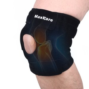 Maxkare Knee Brace, Open Patella Knee Protector Wrap, Breathable Neoprene Knee Brace Support for Arthritis