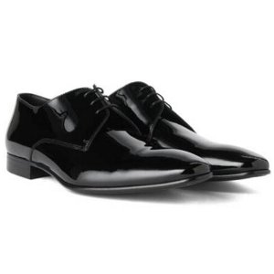 'Cristallo' | Italian Calfskin Patent Derby Tuxedo Shoes