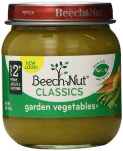 $6.00 ($4.80 for Prime Member) Beech-Nut Classics, Garden Vegetables, 4 Ounce (Pack of 10)