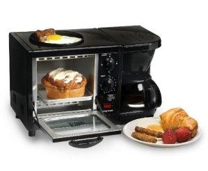 $27.89 Elite Cuisine EBK-200B Maxi-Matic 3-in-1 Multifunction Breakfast Center, Black