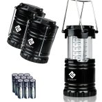 $14.99 Etekcity 3 Pack Portable Outdoor LED Camping Lantern with 9 AA Batteries