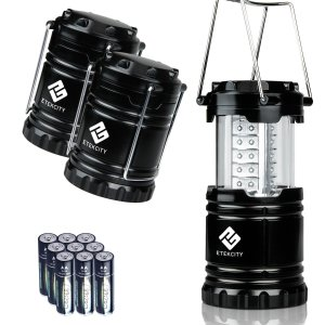 Etekcity 3 Pack Portable Outdoor LED Camping Lantern with 9 AA Batteries