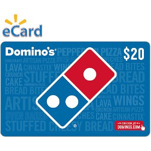$18(Email Delivery) Domino's Pizza $20 eGift Card