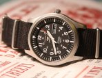$99.99 SEIKO 5 Sport Automatic Black Canvas Men's Watch SNZG15