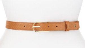 $92(reg.$185) Tory Burch Embossed Leather Belt