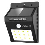 Holan 12 LED Motion Sensor Solar Waterproof Wall Light