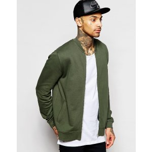 ASOS男士橄榄绿色棒球外套