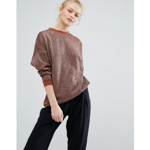 Monki Metallic Sweat Sweater