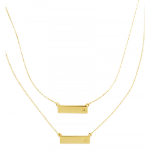 Initial Bar Pendant Necklace | BaubleBar