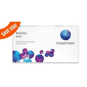 Biofinity Toric 6 Pack | Contacts Direct