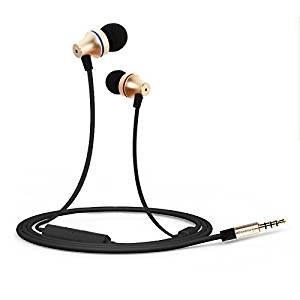 In-Ear Earphones Headphones, Gaoye G1000 3.5mm Jack HD Stereo Wired Earphones with Mic Gold-plated Noise Cancelling Sweatproof Headphones