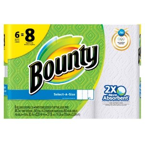 Bounty Paper Towels, Select-A-Size, White, 6 Big Rolls | Jet.com