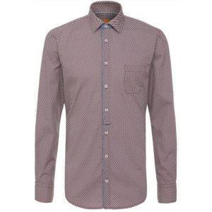'EslimE' | Extra Slim Fit, Printed Cotton Button Down Shirt