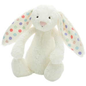Jellycat Bashful Bunny Cream Dot Small - Free Shipping