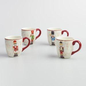Nutcracker Mugs, Set of 4 | World Market