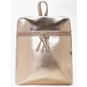 Charlotte Metallic Zip Detail Backpack