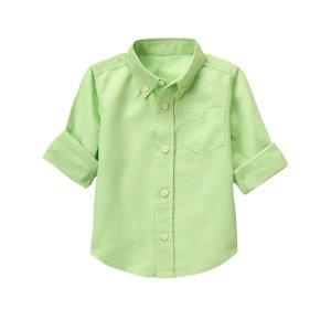 Toddler Boys Melon Linen Shirt by Gymboree