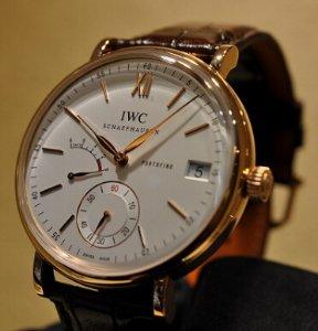 IWC Portofino Silver Dial Brown Leather Strap Men's Watch IW510107