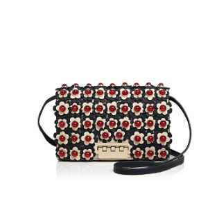 ZAC Zac Posen Earthette Floral Leather Crossbody | Bloomingdale's