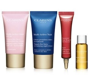 Free 4-pc Gift Set with any $65 Clarins Purchase @ macys.com