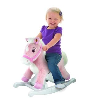 $15.39(reg.$39.99) Rockin' Rider Pink Rocking Pony Ride-On