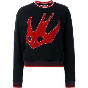 Mcq Alexander Mcqueen Cropped Swallow Embroidery Sweatshirt - Dolci Trame - Farfetch.com