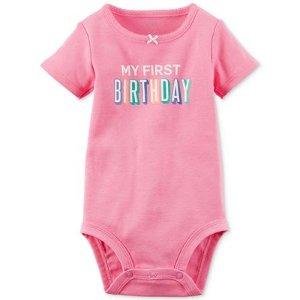 Carter's My First Birthday Bodysuit, Baby Girls (0-24 months)
