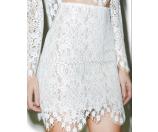 For Love and Lemons Vika Mini Skirt Ivory
