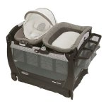 Graco Pack 'n Play Playard Bassinet Changer Snuggle Suite LX Baby Bouncer, Abbington