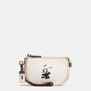COACH: Felix Laughing Pouch In Pebble Leather